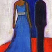 Obama Black And Blue Print by Ricky Sencion