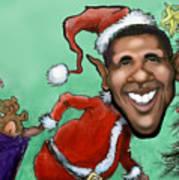Obama Christmas Art Print