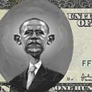 Obama Dollar Art Print
