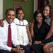 Obama Family Official Portrait By Annie Art Print