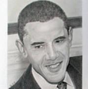 Obama Art Print by Felipe Galindo
