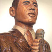 Obama In A Red Oak Log - Up Close Art Print by Robert Crowell