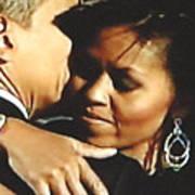 Obama Love Art Print