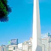 Obelisk On July Nine Avenue In Buenos Aires-argentina Art Print