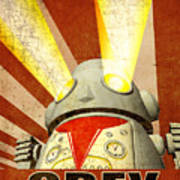 Obey Version 2 Print by Michael Knight