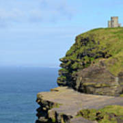 O'brien's Tower Along The Cliff's Of Moher In Ireland Art Print