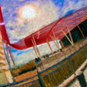 Observation Tower Circuit Of The Americas Art Print