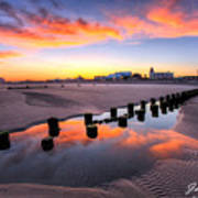 Ocean City Afterglow Art Print