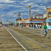 Ocean City Boardwalk Art Print