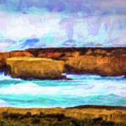 Ocean Cliffs Art Print