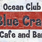 Ocean Club Cafe Art Print