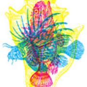 Ocean Creatures Art Print