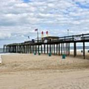 Ocean Fishing Pier Art Print