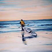 Ocean Kayak Art Print