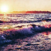 Ocean Landscape Sunrise Art Print