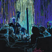 Ocean Lounge Jazz Night Art Print