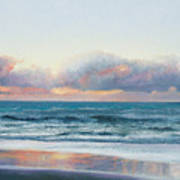Ocean Painting - Days End Art Print