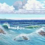 Ocean Pyramid Art Print