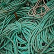 Ocean Ropes Art Print
