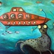 Ocean Screams Art Print