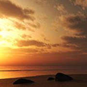 Ocean Side Sunset Art Print