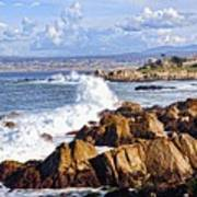 Ocean Spray In Monterey Art Print