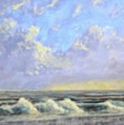 Ocean Storm Sunrise Art Print