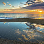 Ocean Sunrise Reflection Art Print