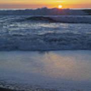 Ocean Wave Kisses The Sun Art Print
