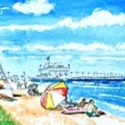 Ocean View Beach Art Print