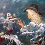 Ocean Wine Art Print