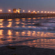 Oceanside Pier In The Mist Art Print
