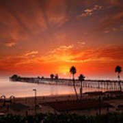 Oceanside Sunset 9 Art Print