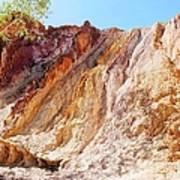 Ochre Pits Colours, West Mcdonald Ranges Art Print