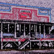 Ocracoke Island Shop Art Print