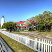 Ocracoke Lighthouse, Ocracoke Island, Nc Art Print