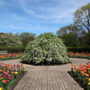 Octagon Garden At Cantigny Park Art Print