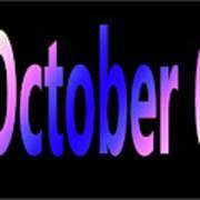 October 6 Art Print