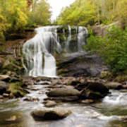 October At Bald River Falls Art Print