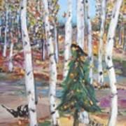 October Christmas Art Print