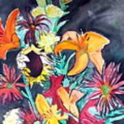 October Flowers Art Print