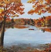 October Morn At Walden Pond Art Print