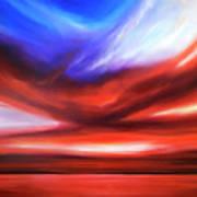 October Sky V Art Print