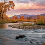 October Sunrise At The Provo River. Art Print
