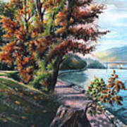 October Visiting Stanley Park Bc Art Print