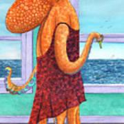 Octopus in a Cocktail Dress Art Print