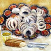 Octupus And Sea Urchins Dinner Art Print