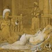 Odalisque With Slave Art Print