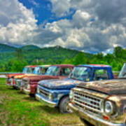 Odd Man Out Fords And Friend  Art Print