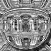 Ode To Mc Escher Library Of Congress Orb Horrizontal Art Print